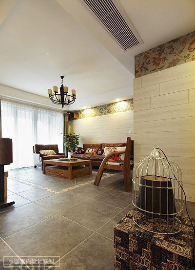 热带雨林演绎100平东南亚风格婚房 家居别墅 室内设计联盟